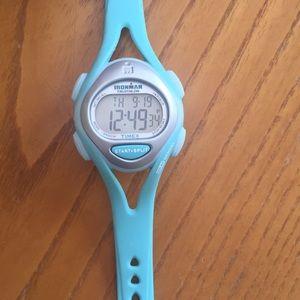 Ironman Women's triathlon watch Timex Aqua Blue